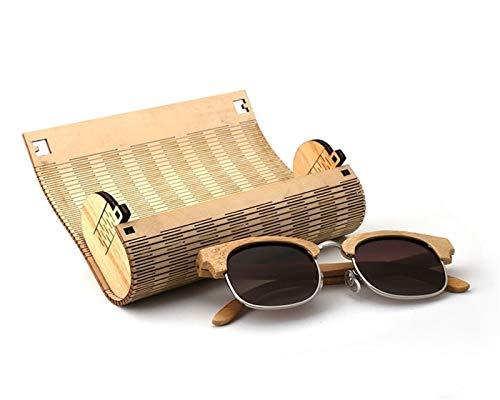 AiKoch Holz Protable Rechteck Brillenetui Frauen Männer Lesebrille Sonnenbrille Brillenetui Holz Protector Box Use (Color : Camel)