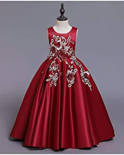 BestGift birthday party long dress dress wedding performance clothing 4-14 Years