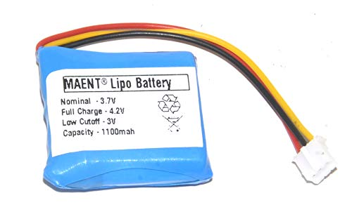 MAENT® 1100mah Replacement Lithium ion Lipo Lithium Polymer Battery for Motorola FW200L GSM Wireless Cordless Phone - M10