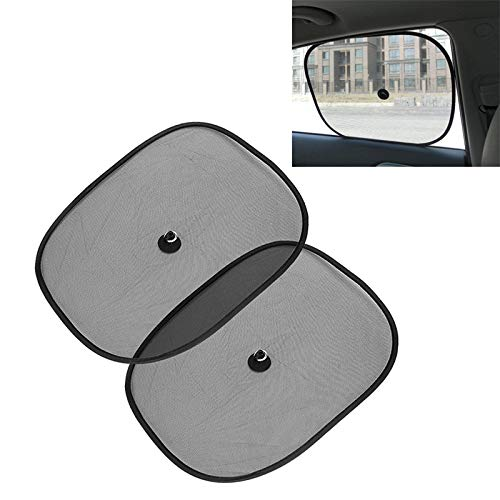 Autoaccessoires, 2 stuks, ramen, mesh, zonwering, auto, parasol, afmetingen: 44 x 36 cm, sierlijsten binnen
