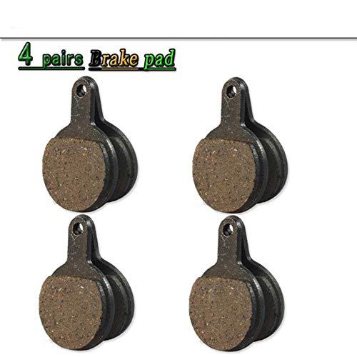 4 paires de plaquettes de freins a disque velo velo vélo pour TEKTRO NOVELA IOX .11 MD-M311 semi-metalliques, 4 paires