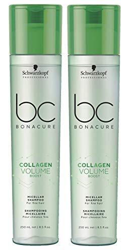 2er Collagen Volumen Boost Shampoo Bonacure Schwarzkopf Professional für feines Haar je 250 ml = 500 ml