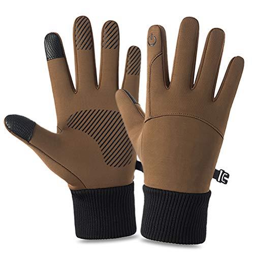 Desire Sky Guantes de ciclismo al aire libre a prueba de viento, guantes de pantalla táctil cálidos, guantes de deportes de invierno para hombres y mujeres