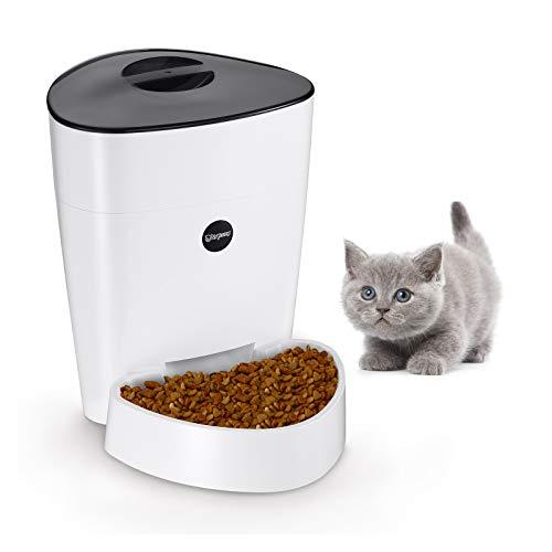 isYoung Automatisierte Futterspender 4L für Katze & Hunde Programmierbarem Fütterungsautomat Pet Feeder mit Timer, LCD Bildschirm