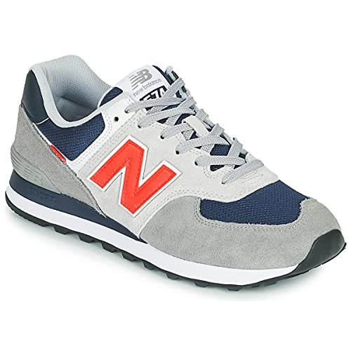 New Balance 574 Sneaker Herren grau/blau, 47.5 EU - 12.5 UK - 13 US