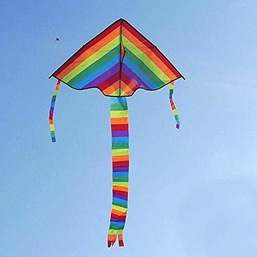FANZIFAN Cometa,New Long Tail Rainbow Kite Outdoor Kites Toys Kite For Children Kids(Not with Kite String),A