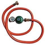 Gas Regler/Schlauch Set 50 mbar mit 1/2 Zoll Anschluß