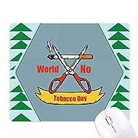 ロゴカット オフィスグリーン松のゴムマウスパッド