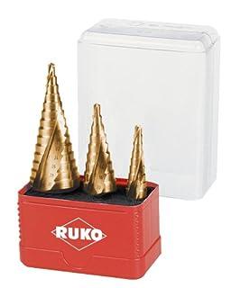 Ruko A101032T Stepped Drill Bit Set in Tin (B008HO9PO8)   Amazon price tracker / tracking, Amazon price history charts, Amazon price watches, Amazon price drop alerts