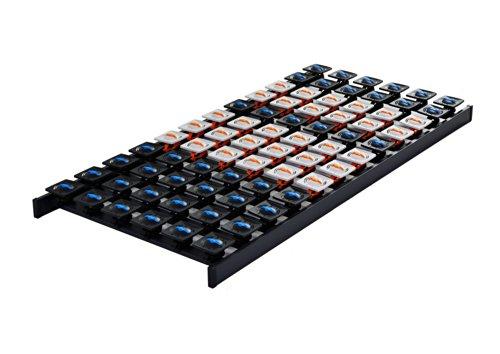 DaMi Tellerrost Dream 140 x 200 cm - 5 Zonen Lattenrost mit 108 Tellermodulen & Individueller Härteverstellung