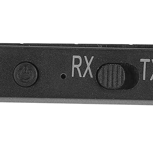 Yuyanshop Adaptador de audio inalámbrico, adaptador inalámbrico de modo dual, Bluetooth 5.0 y código de baja latencia, transmisión de música 24 horas tiempo de reproducción