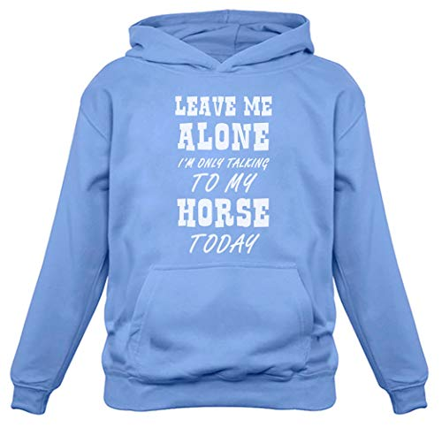 Leave Me Alone I'm Only Talking to My Horse Gift for Horse Lover Women Hoodie California Blue