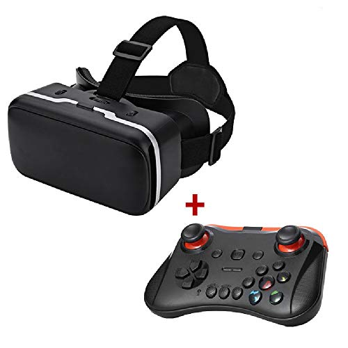 Virtual Reality Headset 3D VR Glasses with Gamepad for 4.7-6.0 Inches Smart Phones Comfortable New 3D VR Headset
