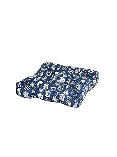 Hruile Juego de 2/4 cojines cuadrados para silla/asiento, cómodos y multiestilo, cojines para sillas de comedor, interiores y exteriores, jardín, oficina, sala de estar, 4 unidades, 45 x 45 cm, gato