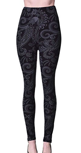 VIV Collection Plus Size Printed Leggings (Shadowy Beauty)