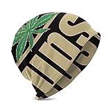 Wfispiy United Pot Smokers Kinder Winter Warme Strickmützen Stretchy Soft Beanie Mütze Skull Cap für Jungen Mädchen