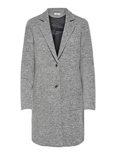 ONLY Damen Mantel Onlcarrie Mel Coat Cc OTW Melange Knöpfe, Farbe:Grau, Größe:38