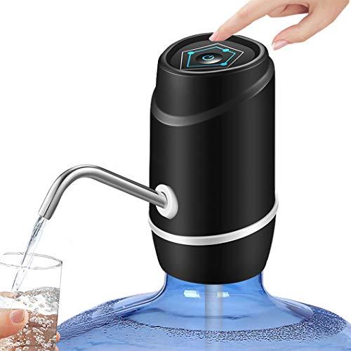 Pudhoms Wasserspender mit USB-Aufladung, Wasserpumpe für 5 Liter Flasche, universell passend, tragbar, elektrischer Wasserkrug Spender, Trinkwasserspender, 5 Liter für 2/3 / 5 Liter