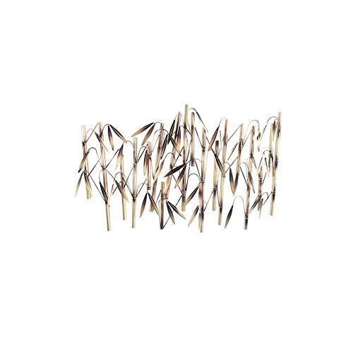 GANG Métal Mur Art Sculpture Murale En Métal Sculpture En Métal Bambou Mur Art Decor Sculpture - Nature Inspiré Accueil Décoration À L'Intérieur Ou À L'Extérieur Suspension Murale E