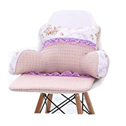Pink Lace Reading pillow with a flowers for girls and kids.