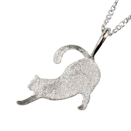 [アトラス] Atrus ネックレス レディース pt999 純プラチナ ネコ ねこ ペンダント チェーン(シルバー925)