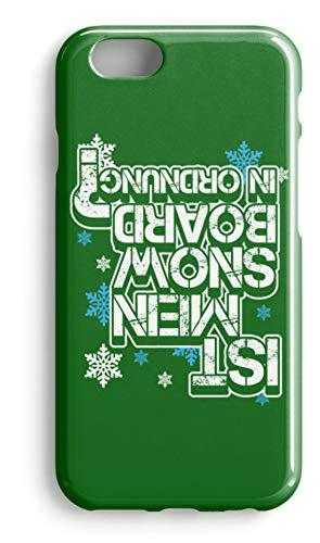 shirt-o-magic Handyhülle Snowboarder: Ist mein Snowboard ok? - Case -iPhone 8 Plus-Kelly Green
