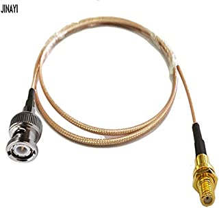 Gimax Microdot Compatible M5 Female to BNC Male Connector 10-32 UNF Vibration Acceleration Sensor Test RG316 Cable 1m 3m 5m 10m - (Color: 1m)