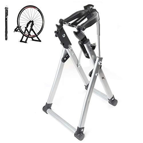 Soporte para reparación de bicicletas, plegable, para cargas pesadas, adecuado para bicicletas de montaña, de carreras, plegables (gris)