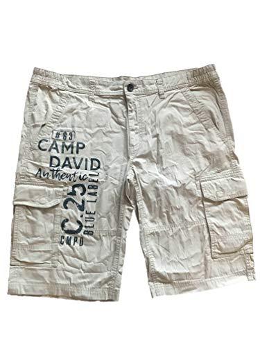 Camp David Herren Skater - Hose Bermuda kurz CCU-1900-1614 (XXXL, Summer beige)