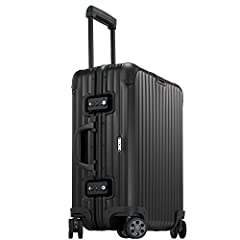 """Imported The Rimowa Topas Stealth elegant black luggage anodised aluminium combined with state-of-the-art technology The 21"""" Multiwheel is part of the Topas Stealth Collection from Rimowa?. ( Dimensions: 21.7""""x 7.9""""x 15.7"""" inch) Four multi-directiona..."""