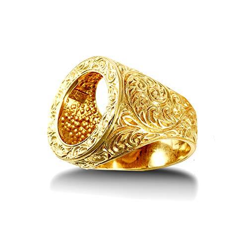 Jewelco Europa Oro Giallo 9k Montaggio moneta anello