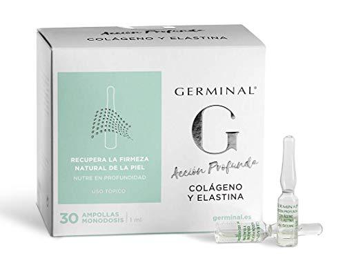 Germinal tiefwirkendes Kollagen und Elastin. Das Serum aus Kollagen- und Elastinkonzentrat bietet einen nährstoffreichen Effekt. Das Anti-Age-Produkt gibt der Haut Elastizität. 30 Ampullen zu je 1ml.
