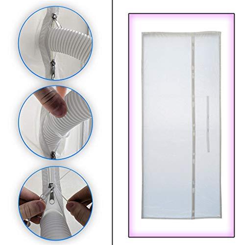 ❤️Neu!90 x 210 cmTragbare Klimaanlage und Trockner Türdichtung Funktioniert Mit Allen Mobilen Weichen Fensterrahmen-Dichtungstüchern für Ablufttrockner,Bautrockner,Luftentfeuchter,Heißluftstop (Weiß)