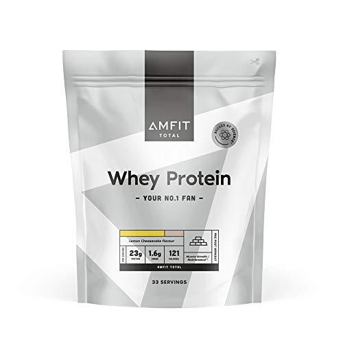 Amazon-Marke: Amfit Nutrition Molkeneiweiß, Zitronen-Käsekuchen-Geschmack, 1kg