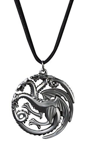 Game Of Thrones Schmuck. Targaryen Daenery. Kahleesi. 3 kšpfigen Drachen Halskette