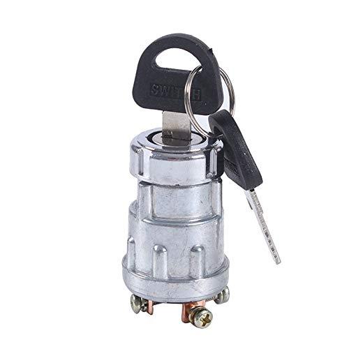 Fransande - Interruptor de encendido universal para barco de coche, 12 V, 4 posiciones, con 2 llaves para motosierras de máquinas agrícolas con motor de gasolina