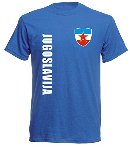aprom Jugoslawien Jugoslavija Sp/A royal - T-Shirt Fußball Trikot (M)