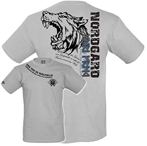 NORDGARD Shirt Odins WÖLFE Wikinger Shirt für Damen und Herren des Modelabels (L)