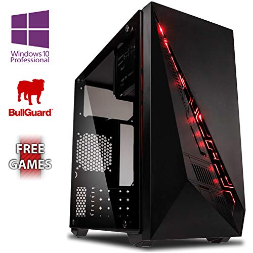 Vibox AX- 5 Gaming PC Ordenador de sobremesa con 2 Juegos Gratis, Windows 10 Pro OS (3,8GHz AMD A6 Dual-Core Procesador, Radeon R5 Gráficos Chip, 8GB DDR4 2400MHz RAM, 1TB HDD)