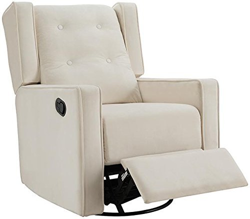 Naomi Home Odelia Swivel Rocker Recliner Cream/Microfiber