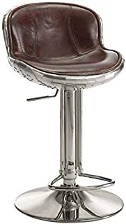 ACME Furniture AC- barstools, Vintage Brown Top Grain Leather/Aluminum