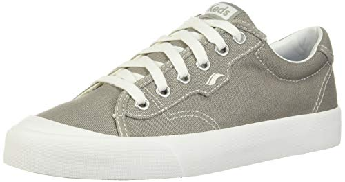 Keds Womens Crew Kick 75 Canvas Casual Sneakers, Grey, 8.5