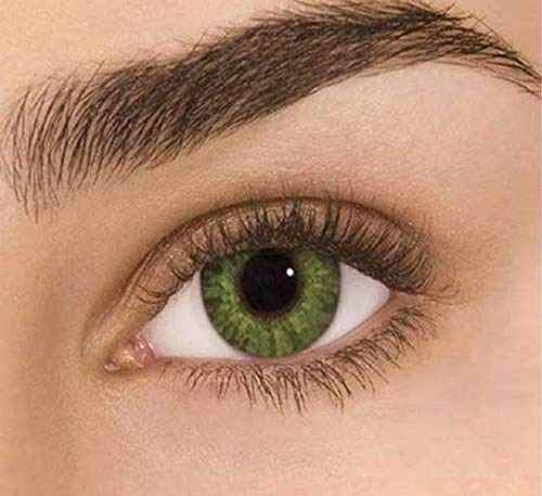 Japan's Color blends - Perfect For The Holidays. Soft. Comfortable Contacts. 3-in-1 Technology lens. Colored: Green