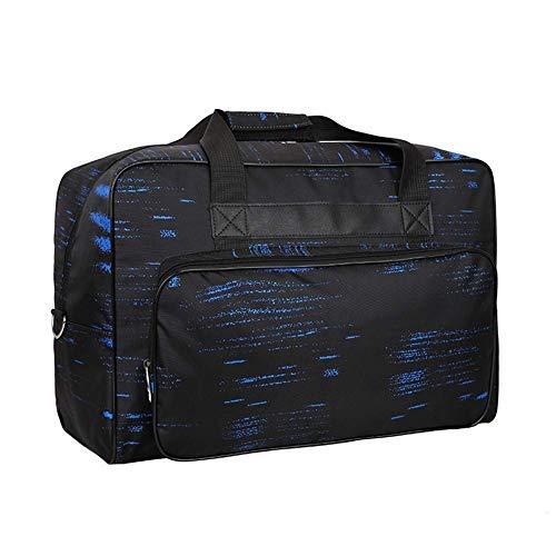 JanTeelGO Bolso para Máquina de Coser, Bolsa de nylon universal, Maletas de funda de transporte acolchada universal con bolsillos, asas y la correa para el hombro (Azul Negro)