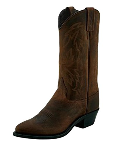 Old West Women's Fancy Western Boot Pointed Toe Brown 6 M