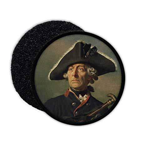 Copytec Patch Alter Fritz Friedrich der Große II Preußen König Vorbild Aufnäher #32930