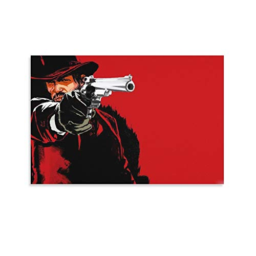 IVEVER Game Character Posters Arthur Morgan Poster Decorative Painting Canvas Wall Art Living Room Posters Bedroom Painting 12×18inch(30×45cm)