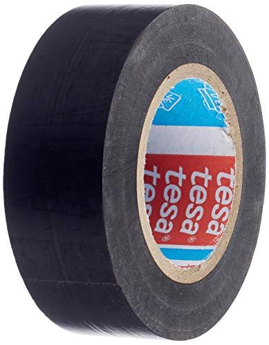 Propac Z-NPA1910N - Cinta aislante de PVC Tesa 53988, color negro, ancho 19 mm, paquete de 10 rollos