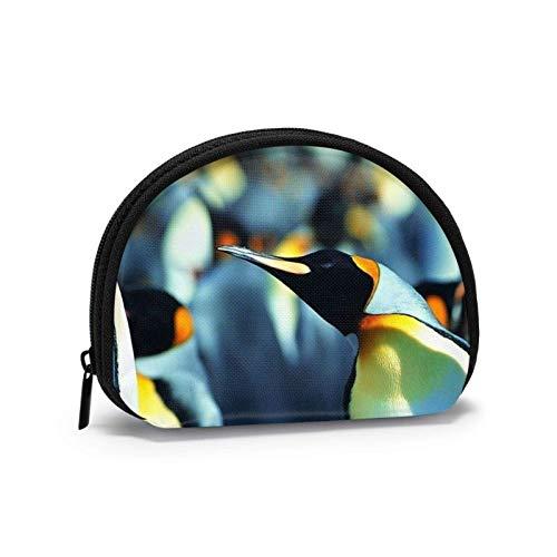 Oxford Cloth Penguin Close Up Münzgeldbörse Kleine Reißverschlusstasche Brieftasche Wechselbeutel Mini Cosmetic Makeup Bags Organizer Mehrzweckbeutel