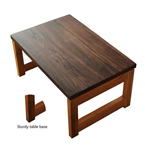 Couchtisch Holzfensterrahmen Und Tabellen Klapp Tatami-Tee Tisch Schreibtisch Stock Balkon Schreibtisch Dampfbad Schwitzen Die Kleinen Tisch (Color : Brown, Size : 60 * 40 * 30cm)